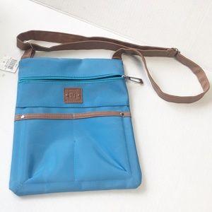 STONE MOUNTAIN Sky Blue with Tan Trim Bag